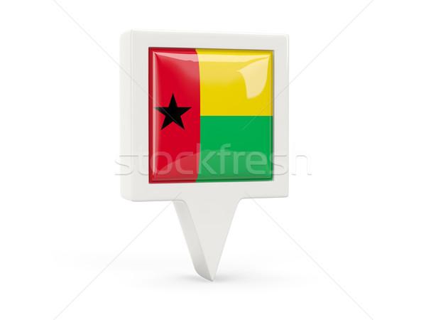 Square flag icon of guinea bissau Stock photo © MikhailMishchenko