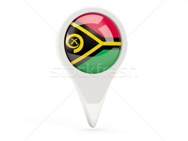Bandeira ícone Vanuatu isolado branco mapa Foto stock © MikhailMishchenko