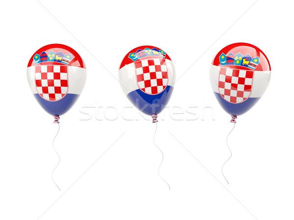 Air balloons with flag of croatia Stock photo © MikhailMishchenko