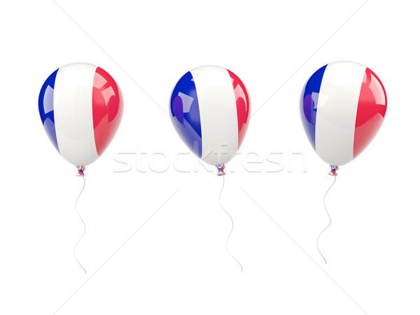 Air balloons with flag of france Stock photo © MikhailMishchenko