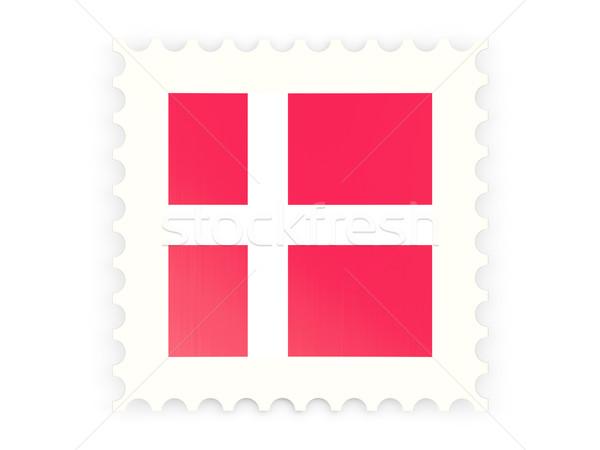 ícone Dinamarca isolado branco e-mail Foto stock © MikhailMishchenko