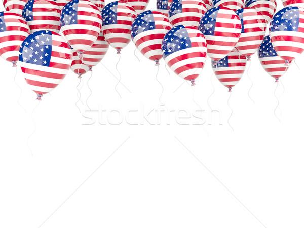 Balon çerçeve bayrak Amerika Birleşik Devletleri Amerika yalıtılmış Stok fotoğraf © MikhailMishchenko