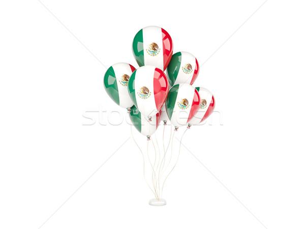 Flying balloons with flag of mexico Stock photo © MikhailMishchenko