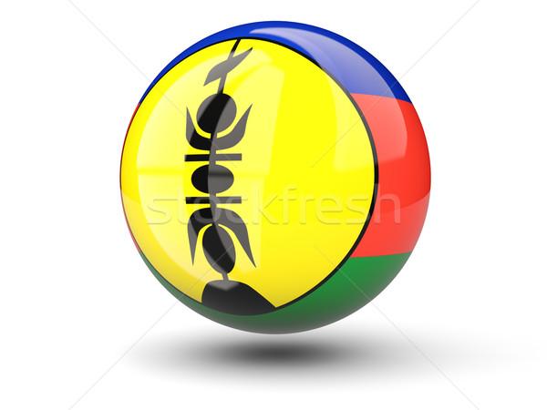 Round icon of flag of new caledonia Stock photo © MikhailMishchenko