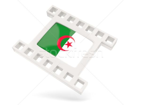 Filme ícone bandeira Argélia isolado branco Foto stock © MikhailMishchenko
