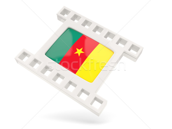 фильма икона флаг Камерун изолированный белый Сток-фото © MikhailMishchenko