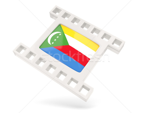 Movie icon with flag of comoros Stock photo © MikhailMishchenko