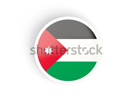 Naklejki banderą Jordania odizolowany biały podróży Zdjęcia stock © MikhailMishchenko