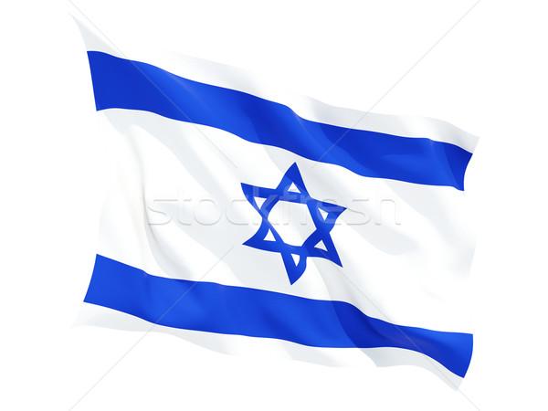 флаг Израиль изолированный белый Сток-фото © MikhailMishchenko