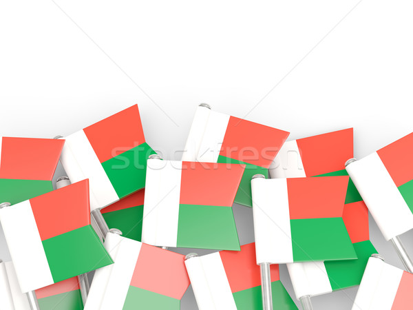 Flag pin of madagascar Stock photo © MikhailMishchenko