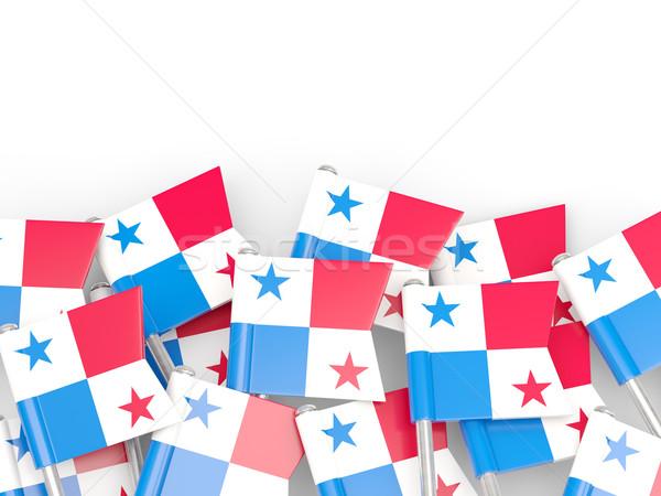 Flagge Pin Panama isoliert weiß Welt Stock foto © MikhailMishchenko