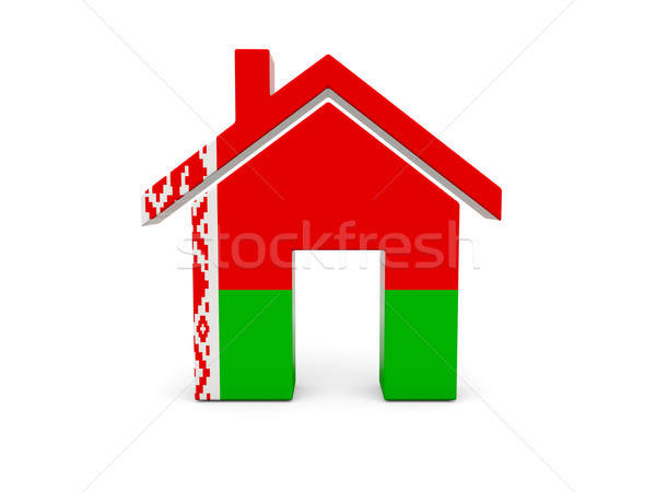 Home with flag of belarus Stock photo © MikhailMishchenko