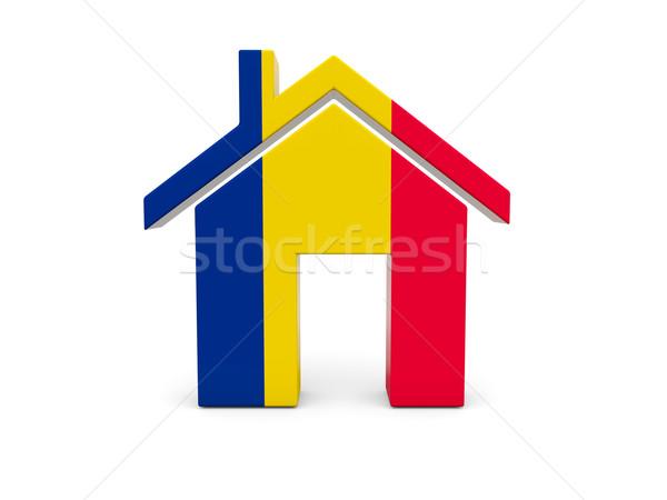 Casa bandera Chad aislado blanco búsqueda Foto stock © MikhailMishchenko