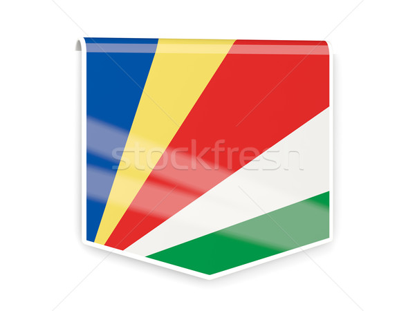 Flag label of seychelles Stock photo © MikhailMishchenko