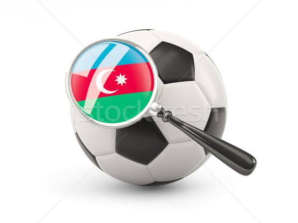 футбола флаг Азербайджан изолированный белый Сток-фото © MikhailMishchenko