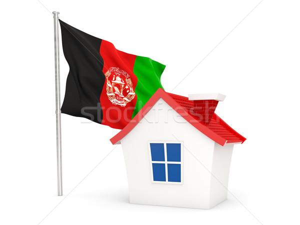 дома флаг Афганистан изолированный белый домой Сток-фото © MikhailMishchenko