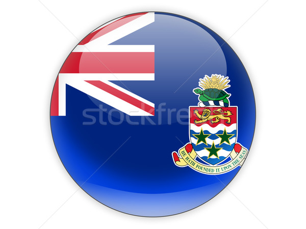 Round icon with flag of cayman islands Stock photo © MikhailMishchenko