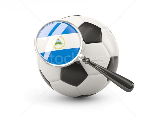 Futebol bandeira Nicarágua isolado branco Foto stock © MikhailMishchenko