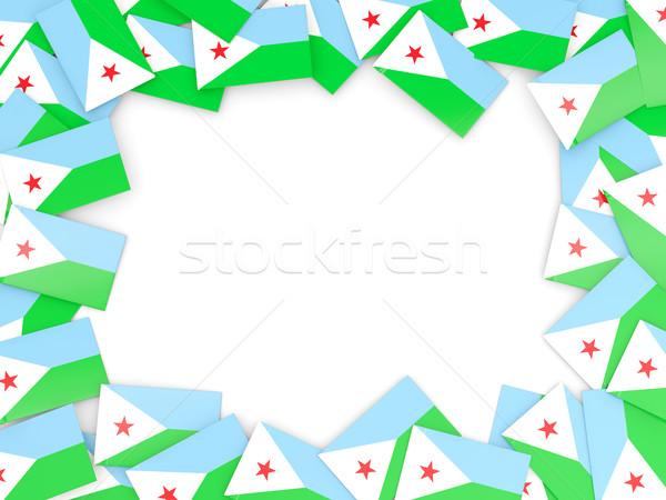 Ramki banderą Dżibuti odizolowany biały Zdjęcia stock © MikhailMishchenko