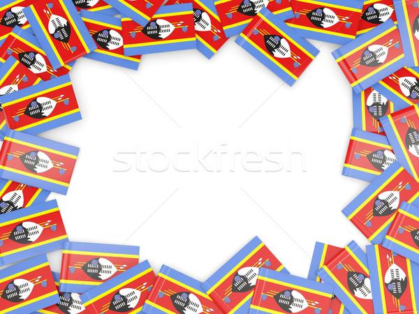 Ramki banderą Suazi odizolowany biały Zdjęcia stock © MikhailMishchenko