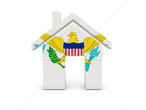 Home with flag of virgin islands us Stock photo © MikhailMishchenko