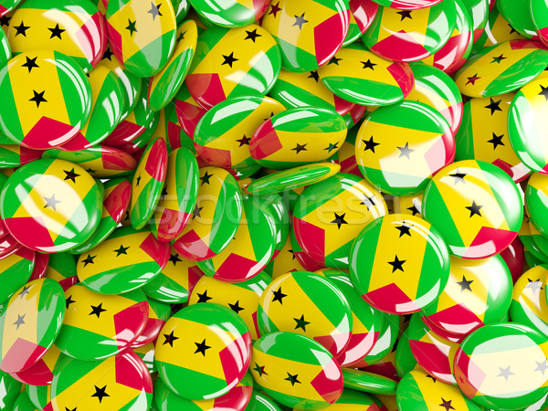 Background with round pins with flag of sao tome and principe Stock photo © MikhailMishchenko
