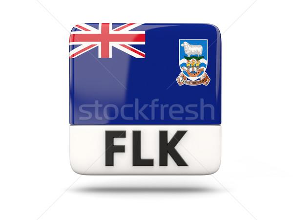 Tér ikon zászló Falkland-szigetek iso kód Stock fotó © MikhailMishchenko