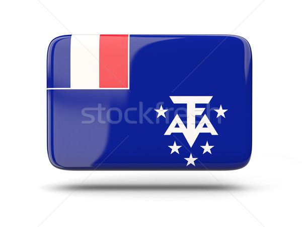 Square icon with flag of french southern territories Stock photo © MikhailMishchenko
