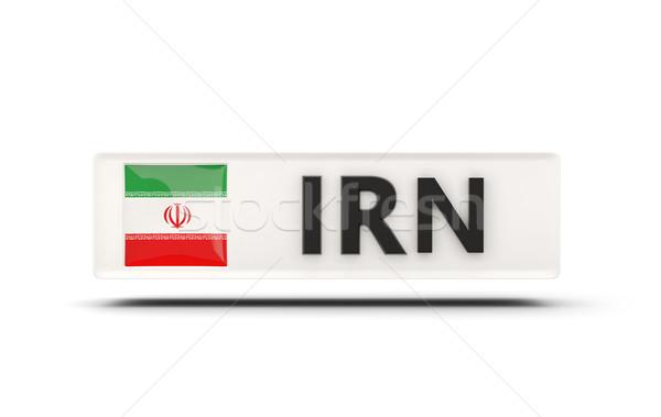 Square icon with flag of iran Stock photo © MikhailMishchenko