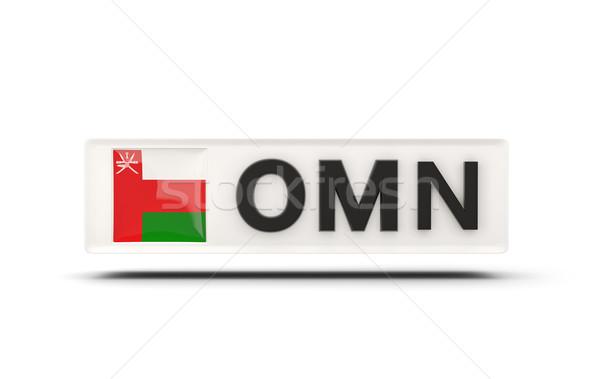 квадратный икона флаг Оман iso Код Сток-фото © MikhailMishchenko