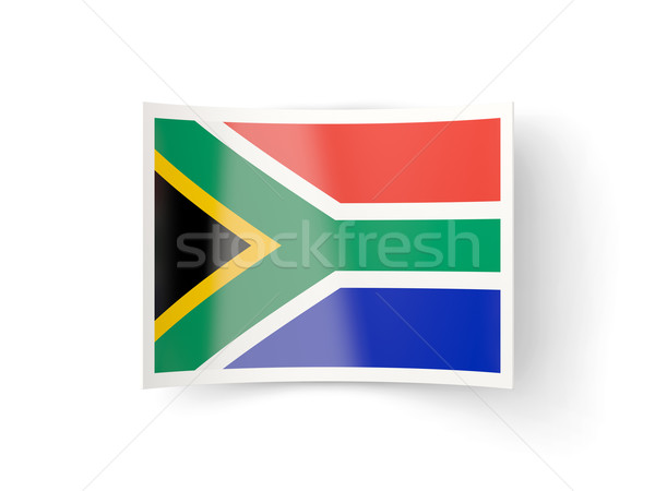Bent icon with flag of south africa Stock photo © MikhailMishchenko