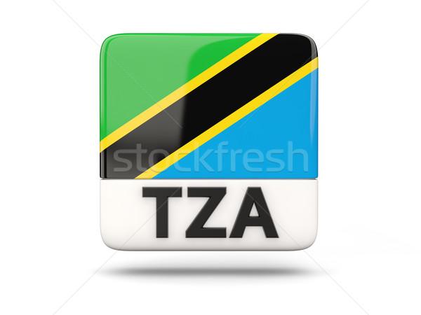 Carré icône pavillon Tanzanie iso code Photo stock © MikhailMishchenko