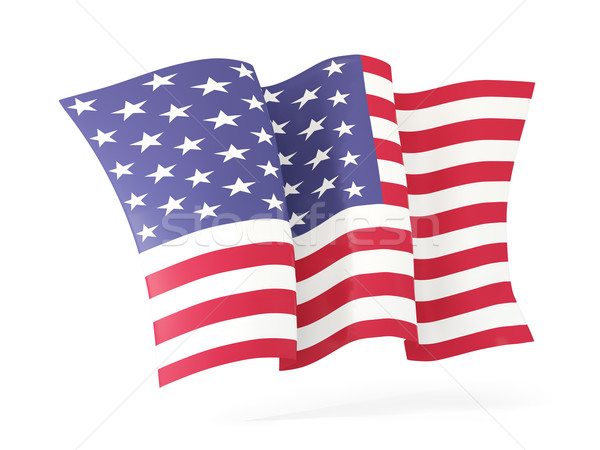 Waving flag of united states of america. 3D illustration Stock photo © MikhailMishchenko