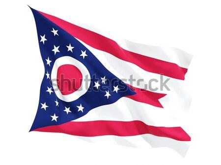 Zászló tér ikon izolált fehér 3d illusztráció Stock fotó © MikhailMishchenko