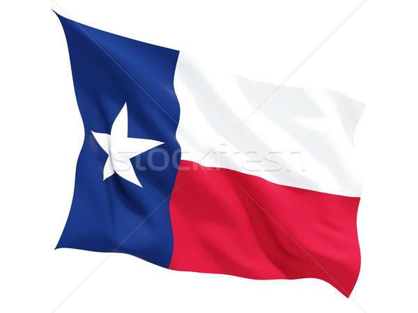 Flag of texas, US state fluttering flag Stock photo © MikhailMishchenko