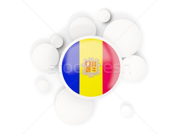 Flagge Kreise Muster isoliert weiß 3D-Darstellung Stock foto © MikhailMishchenko