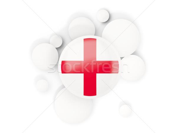 Banderą Anglii circles wzór odizolowany biały Zdjęcia stock © MikhailMishchenko