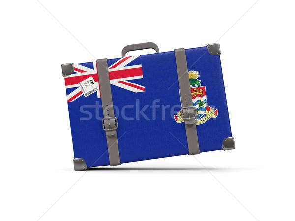 Luggage with flag of cayman islands. Suitcase isolated on white Stock photo © MikhailMishchenko