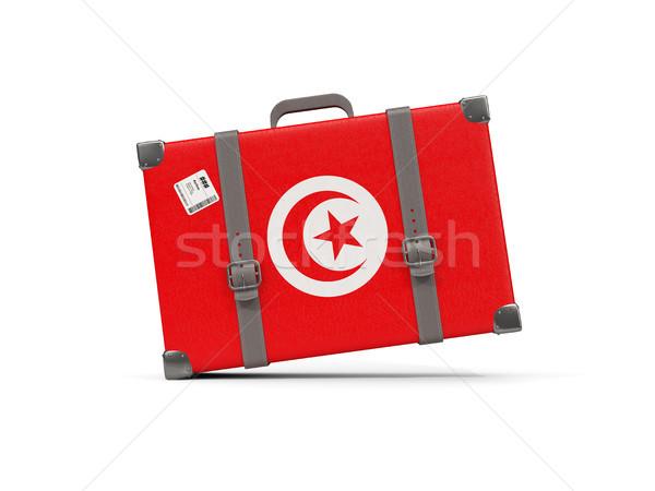 Камера флаг Тунис чемодан изолированный белый Сток-фото © MikhailMishchenko