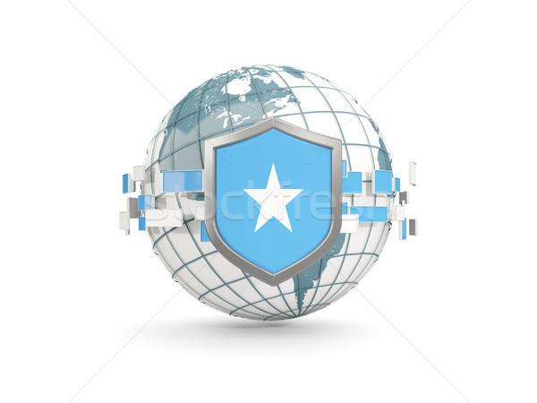 świecie tarcza banderą Somali odizolowany biały Zdjęcia stock © MikhailMishchenko