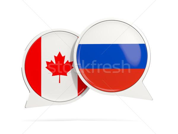 Chat bolle Canada Russia isolato bianco Foto d'archivio © MikhailMishchenko