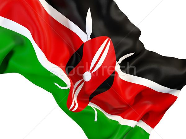 Integet zászló Kenya közelkép 3d illusztráció utazás Stock fotó © MikhailMishchenko