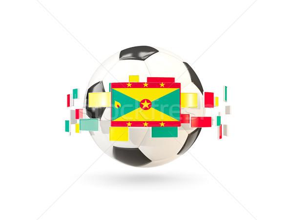 Futballabda vonal zászlók zászló Grenada lebeg Stock fotó © MikhailMishchenko