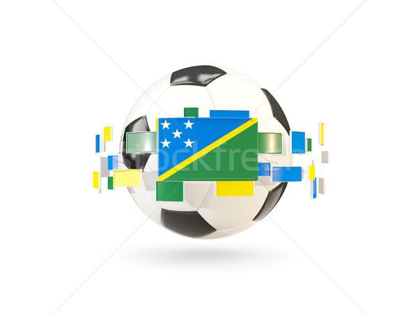 Soccer ball line bandiere bandiera Isole Salomone Foto d'archivio © MikhailMishchenko