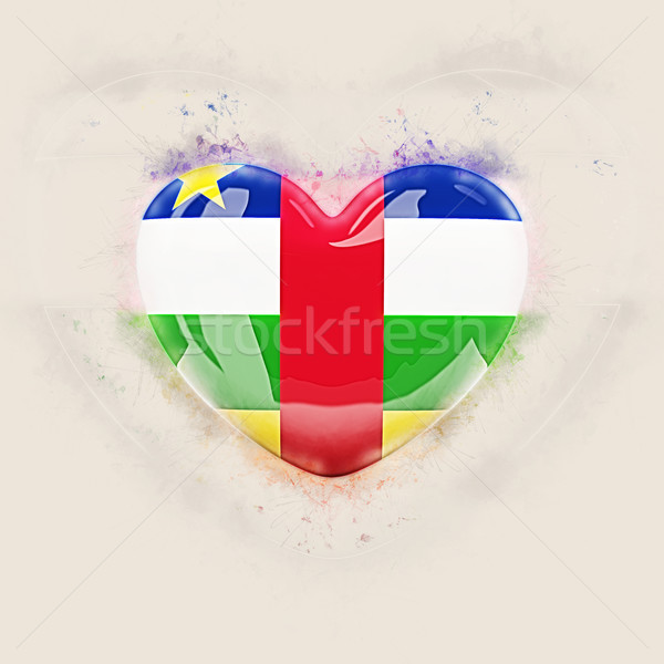 Heart with flag of central african republic Stock photo © MikhailMishchenko