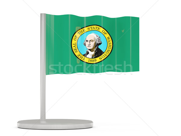 Flag pin with flag of washington. United states local flags Stock photo © MikhailMishchenko