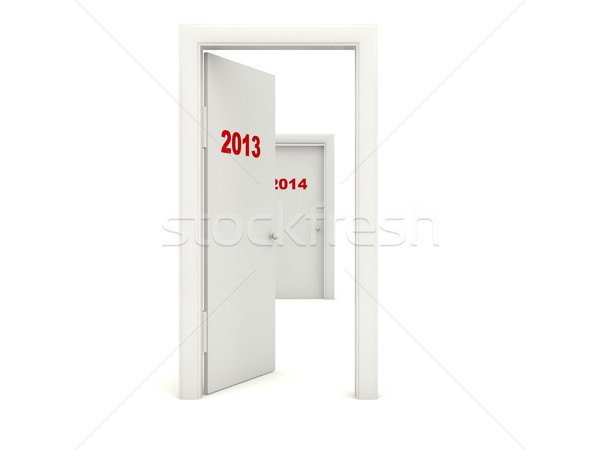 Door with 2013 New Year sign Stock photo © MikhailMishchenko