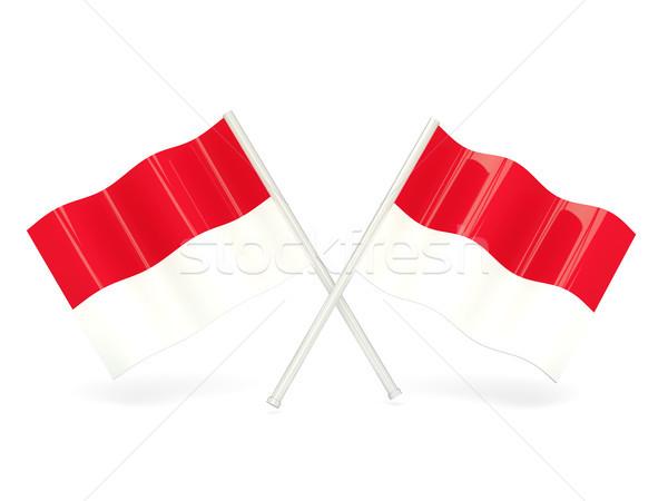флаг Монако путешествия белый Pin баннер Сток-фото © MikhailMishchenko