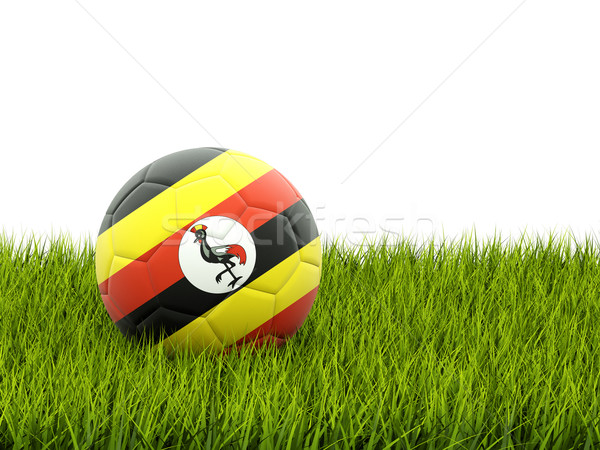 Football with flag of uganda Stock photo © MikhailMishchenko