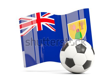 Flag of cayman islands with football in front of it Stock photo © MikhailMishchenko
